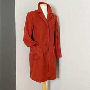 J. Crew Rust Red Lady Day Thinsulate Long Top Coat